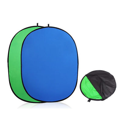 Popup Backdrop Reversible Collapsible Studio Screen Background Panel Green/Blue