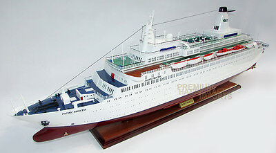 "MS Pacific Princess 39"" the Love Boat Wooden Cruise Ship Model"