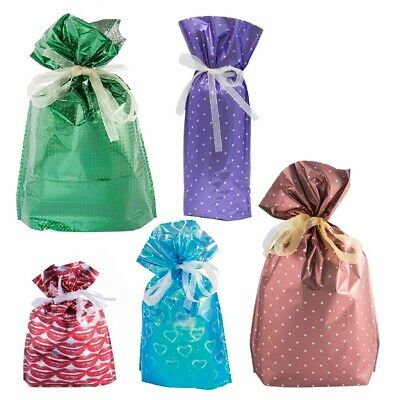GiftMate 30 Piece Drawstring Gift Bags with tags