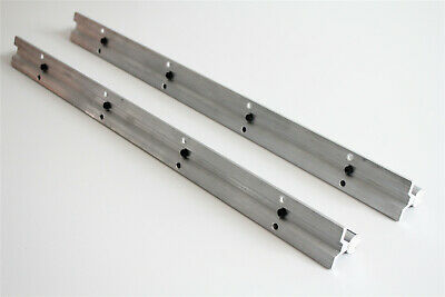 2Pcs SBR20 20mm Fully Supported Linear Rail Guide Shaft Rod Slide L300-1500mm