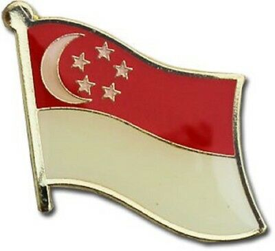 Wholesale Pack of 12 Singapore Country Flag Bike Hat Cap lapel Pin