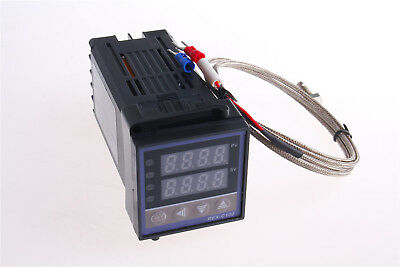 REX-C100 AC 100-240V Temperature Controller with 1 K Type 1M M6 Thermocouple