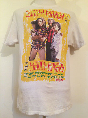 Rare Original Vintage Ziggy Marley One Bright Day Concert Tour Shirt Large!