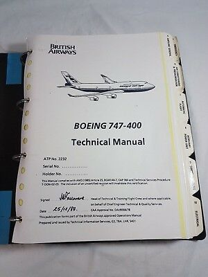 british airways boeing 747 400 technical flight manual 29 00 rh picclick co uk Boeing 747 Name Boeing 747- 400