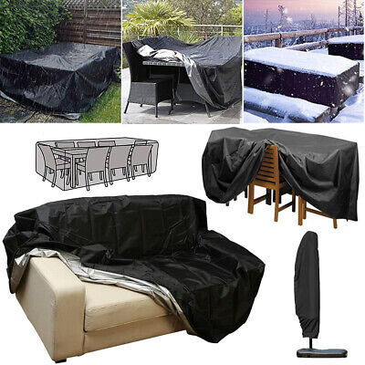 Outdoor Garden Patio Waterproof Furniture Set Covers Rattan Table Sofa Parasol
