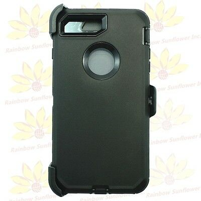 For iPhone 8 Plus Case W/Screen(Clip Holster fits Otterbox Defender ) Black