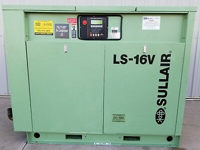 Sullair Industry Rotary Screw Air Compressor, Ls-16V, 003-132134, 100Hp
