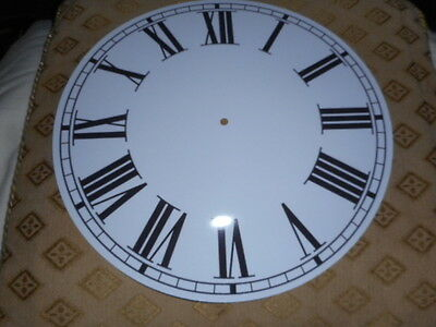 """Large Round Paper Clock Dial - 11"""" M/T - Roman - Gloss White -Face / Clock Parts"""