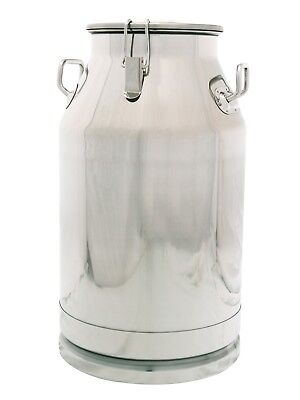 10 Gallon Stainless Steel Milk Can, Heavy Duty with Sealed Lid, 40 Qt 304 SS