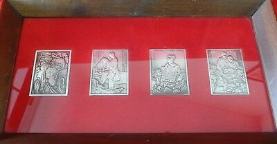Norman Rockwell 'four Freedoms' Silver Bars In Frame