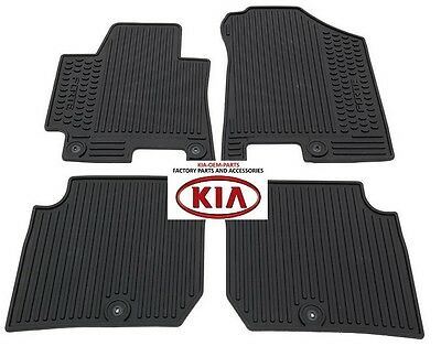 Genuine 2014 2015 2016 2017 Kia Forte Koup All Weather Floor Mats A7013-Adu00