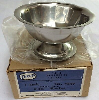 NOS vintage DRUGSTORE Soda Shop old Fountain antique •SHERBET or ICE CREAM DISH•