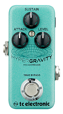 New TC Electronic HyperGravity Mini Compressor Guitar Pedal! Hyper Gravity!!