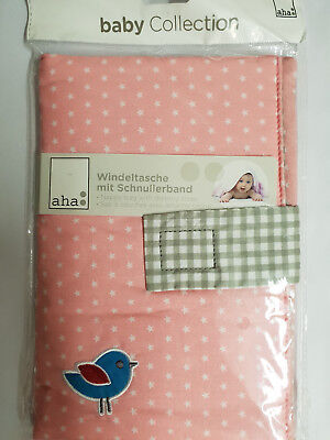 aha Windeltasche Nappy BAG Neu Rosa baby Collection Neu