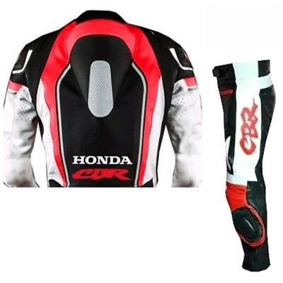 NEW HONDA-CBR-MOTORBIKE/MOTORCYCLE LEATHER SUIT,JACKET/TROUSER RACING-MOTOGP(Rep