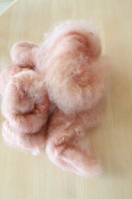 Mohair kids hair washed & coloured 'Fairy Floss Pink' 100 gms