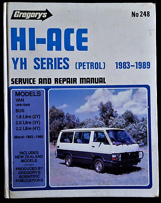 toyota hi ace yh series petrol 1983 89 gregory s service repair rh picclick co uk Truck Manual 12H802 Manual
