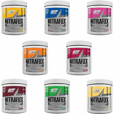GAT NITRAFLEX Pre-Workout 1 or 30 Servings - Choose Flavor and Size