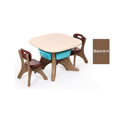 Kids Table and Chairs Play Set Toddler Children Furniture Durable HDPE Plastic