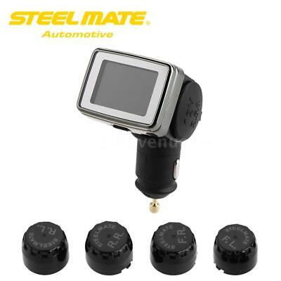 Steelmate LCD Wireless TPMS Tire Pressure Monitoring System 4 Sensors Bar
