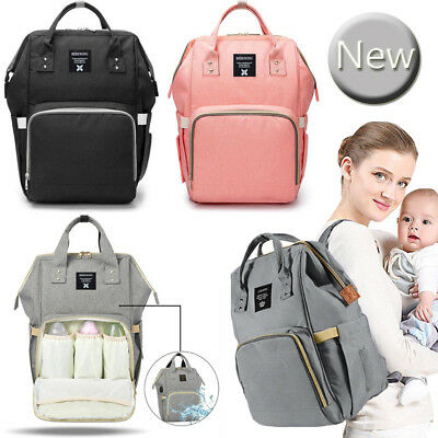 Multi-use Large Mummy Baby Diaper Nappy Backpack Mom Changing Travel Bag UK