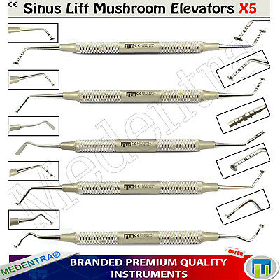 Bone Graft Surgical Set Implant Advance Sinus Lift Mushroom Elevators Kit 5Pcs