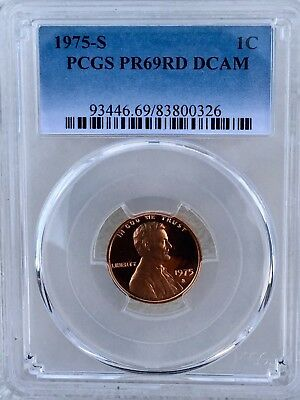 1975-S Lincoln Proof PCGS PR69RD DCAM  Shipping $$ on First Coin Only