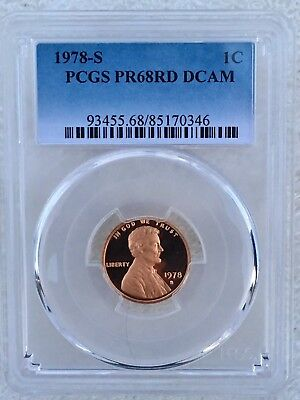 1978-S Lincoln Cent Proof PCGS PR68RD DCAM  Shipping $$ on First Coin Only