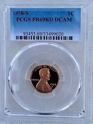 1978-S Lincoln Cent Proof PCGS PR69RD DCAM  Shipping $$ on First Coin Only