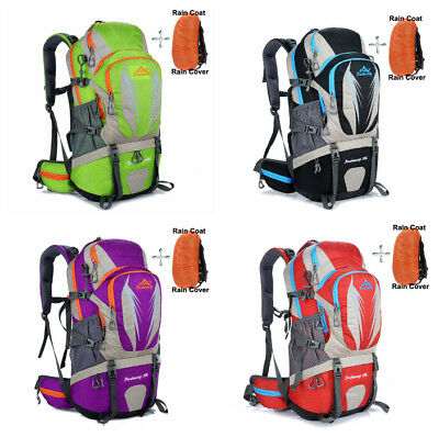30-40L Capacity Backpack Traveling Hiking With Detachable External Frame Unisex