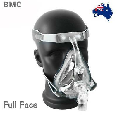 BMC FM1 FULL FACE CPAP MASK SMALL / MED / LG Sleep Apnea Mask with Headgear AU