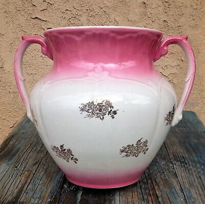 LARGE VICTORIAN 19TH C LA BELLE CHINA by WHEELING POTTERY JARDINIERE PLANTER