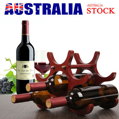 Butterfly Shape Wine Rack Wooden 6 Bottles Comfortably Stores Wine Rack Fashion