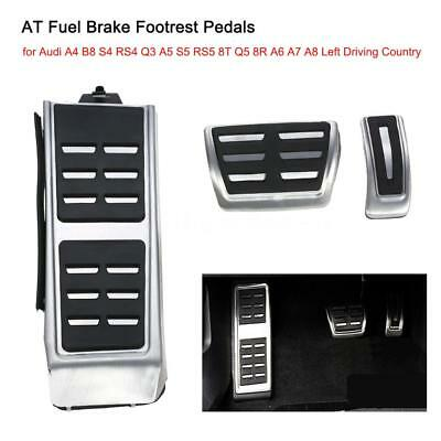 AT Fuel Brake Footrest Pedals  for Audi A4 B8 S4 RS4 Q3 A5 S5 RS5 8T Q5 8R I4H7