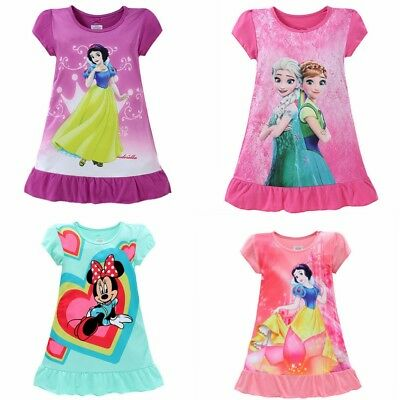 Children's wear girls summer Sleep dress Breathable sleepwear Comfortable pjamas