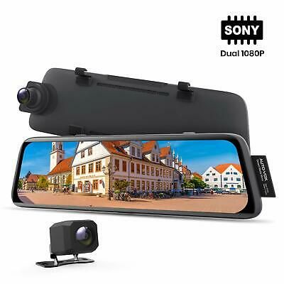 1296P 9.88'' Dual Lens Auto Dashcam Video Recorder Rückspiegel Monitor Kamera