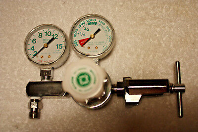 Western Medica O2 Oxygen Compressed Gas Regulator Valve Gauge M1-870-15FG