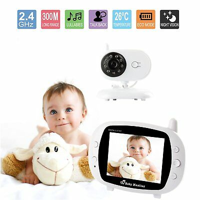 "3.5"" Wireless HD Video Baby Monitor 2.4GHz Night Vision Security Camera MR"
