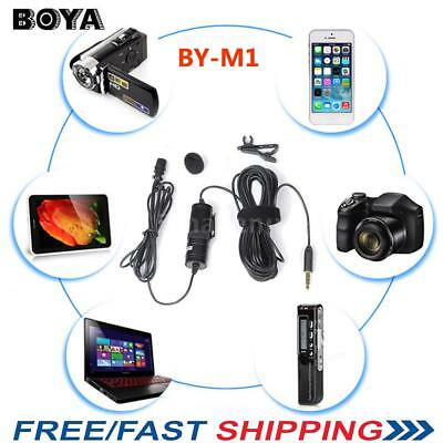 BOYA BY-M1 Lavalier Microphone Mic for Canon Nikon iPhone Camera DSLR Camcorder