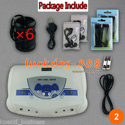 Cell DUAL CHI IONIC ION DETOX MACHINE FOOT BATH CELL AQUA SPA CLEANSE MUSIC MP3