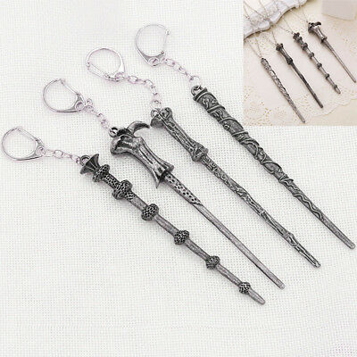 Harry Potter Magic Wand Cosplay Fancy Dress Party Necklace Keyring Key Chains