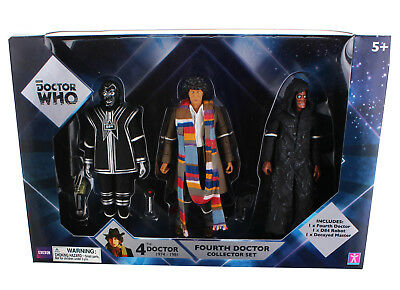 """Doctor Who 5.5"""" Action Figure Set: 4th Doctor, D84, Decayed Master"""