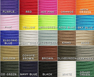 Lanyard Mil Spec Type III 7 Strand Core 100 FT 550 Paracord Parachute Cord