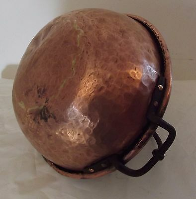"""antique copper hammered """"ass of hen""""jam 19th century brassware french copp"""