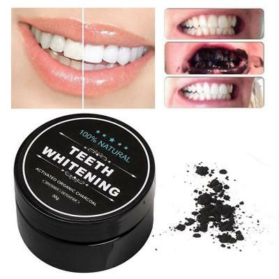 Teeth Whitening Powder Natural Organic Activated Charcoal Bamboo Toothpaste RP