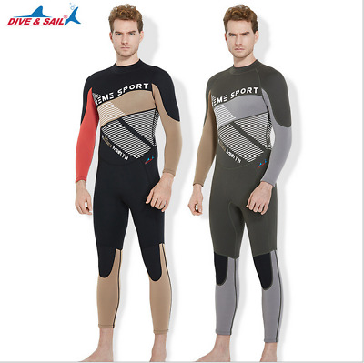515a1bd4f5 Mens 3mm Full Body Neoprene Wetsuit Wet Suit Surfing SCUBA Diving Swim  Jumpsuit
