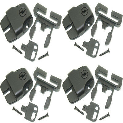 Spa Hot Tub Cover Clips Broken Latch Locks Push Button Release & key - Pack of 4