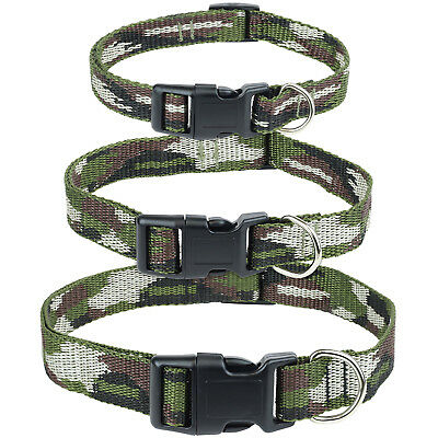 Me & My Pet Dog/puppy Collar Green Army Camo Adjustable Neck Camouflage Pattern