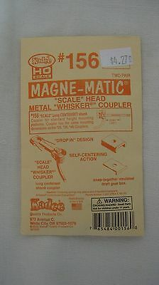 Kadee #156 HO Magne-Matic Scale Whisker Couplers 2-pair W/Draftgear Boxes