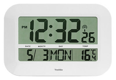 XXL Jumbo Radio Controlled Digital Silent Wall Clock ( UK & Ireland  Version )